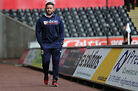 Lee Johnson Manager of Bristol City arrives prior to the Sky Bet Championship match between Swansea City and Bristol City at the Liberty Stadium, Swansea, Wales, UK. Saturday 25 August 2018