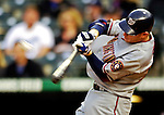 9 September 2006: Robert Fick, catcher for the Washington Nationals, in action against the Colorado Rockies. The Rockies defeated the Nationals 9-5 at Coors Field in Denver, Colorado.&#xA;&#xA;Mandatory Photo Credit: Ed Wolfstein.<br />