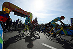 General view, <br /> AUGUST 6, 2016 - Cycling : <br /> Men's Road Race <br /> at Fort Copacabana <br /> during the Rio 2016 Olympic Games in Rio de Janeiro, Brazil. <br /> (Photo by Yohei Osadai/AFLO SPORT)