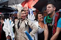 Brescia 11-05-2013: Supporters del popolo delle libertà partecipano alla manifestazione organizzata dal PDL