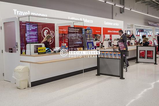 Bureau de change, new Sainsbury's superstore, Thanet, Kent UK
