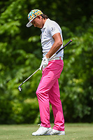 Rickie Fowler (USA) reacts to his tee shot on 8 during round 2 of the 2019 Charles Schwab Challenge, Colonial Country Club, Ft. Worth, Texas,  USA. 5/24/2019.<br /> Picture: Golffile   Ken Murray<br /> <br /> All photo usage must carry mandatory copyright credit (© Golffile   Ken Murray)