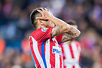 Angel Correa of Atletico de Madrid reacts during their La Liga match between Atletico de Madrid vs Real Sociedad at the Vicente Calderon Stadium on 04 April 2017 in Madrid, Spain. Photo by Diego Gonzalez Souto / Power Sport Images