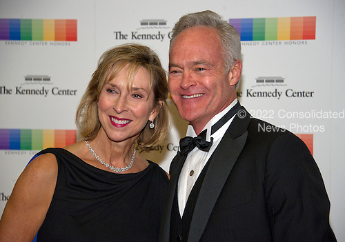 Scott Pelley and his wife, Jane Boone, arrive for the formal Artist's Dinner honoring the recipients of the 39th Annual Kennedy Center Honors hosted by United States Secretary of State John F. Kerry at the U.S. Department of State in Washington, D.C. on Saturday, December 3, 2016. The 2016 honorees are: Argentine pianist Martha Argerich; rock band the Eagles; screen and stage actor Al Pacino; gospel and blues singer Mavis Staples; and musician James Taylor.<br /> Credit: Ron Sachs / Pool via CNP