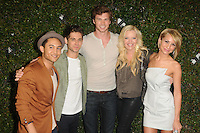 Tahj Mowry, Chelsea Kane,  Jean-Luc Bilodeau, Derek Theler and Melissa Peterman at the ABC Family West Coast Upfronts party at The Sayers Club on May 1, 2012 in Hollywood, California. © mpi35/MediaPunch Inc.