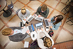 A group of students study together in the Honors College.  Photo by Kevin Bain/University Communications Photography