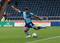 Sam Wood of Wycombe Wanderers during the Sky Bet League 2 match between Wycombe Wanderers and Colchester United at Adams Park, High Wycombe, England on 27 August 2016. Photo by Liam McAvoy.