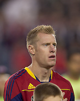 Real Salt Lake defender Nat Borchers (6). Real Salt Lake defeated the New England Revolution, 2-1, at Gillette Stadium on October 2, 2010.