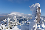 Appalachian Trail - Mount Eisenhower from Crawford Path in the White Mountains, New Hampshire USA .
