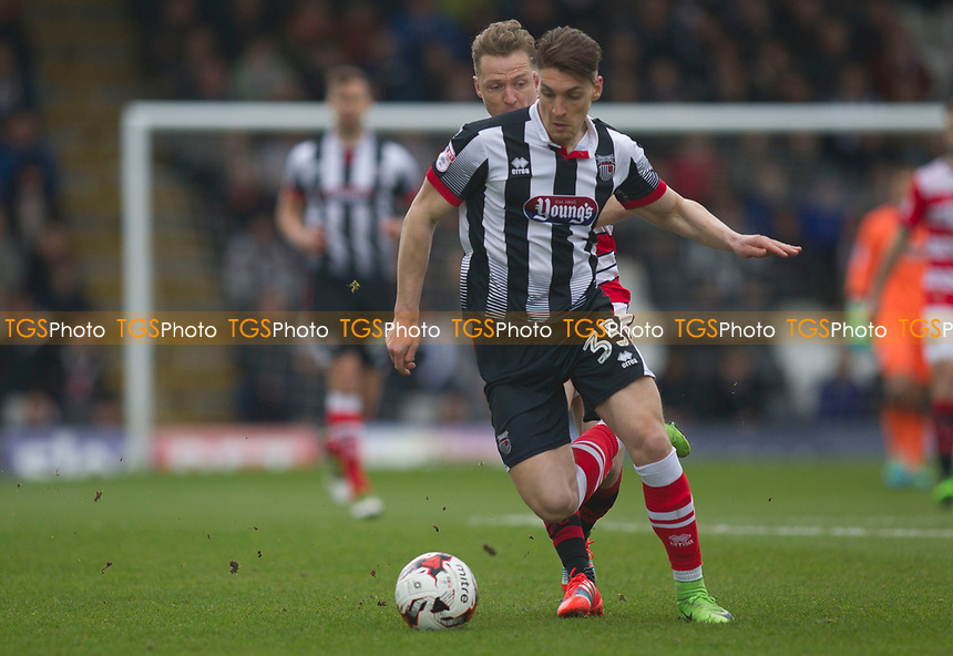 scorer Sam Jones of Grimsby T during Grimsby Town vs Doncaster Rovers, Sky Bet EFL League 2 Football at Blundell Park on 1st April 2017
