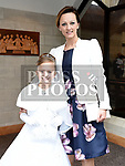 Audrey Krol from Donacarney school who recieved first holy communion in the Star of the Sea church Mornington with her mam Bogumila. Photo:Colin Bell/pressphotos.ie