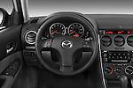 Steering wheel view of a 2008 Mazda 6 Sport Sedan