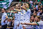 Andre HABER (Trainer SC DHfK Leipzig) \Maximilian JANKE (#13 SC DHfK Leipzig) \Patrick WIESMACH (#4 SC DHfK Leipzig) \Franz SEMPER (#3 SC DHfK Leipzig) \Bastian ROSCHECK (#19 SC DHfK Leipzig) \ beim Spiel in der Handball Bundesliga, SG BBM Bietigheim - SC DHfK Leipzig.<br /> <br /> Foto &copy; PIX-Sportfotos *** Foto ist honorarpflichtig! *** Auf Anfrage in hoeherer Qualitaet/Aufloesung. Belegexemplar erbeten. Veroeffentlichung ausschliesslich fuer journalistisch-publizistische Zwecke. For editorial use only.