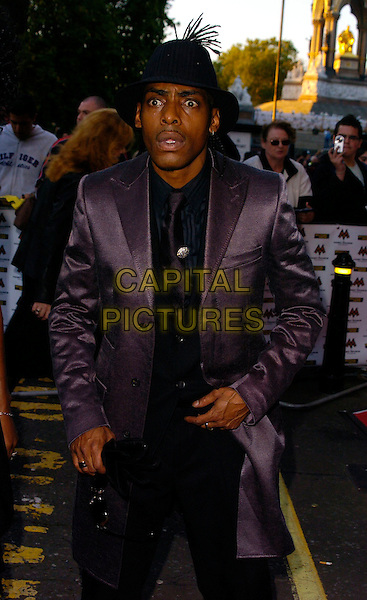 COOLIO.MOBO Awards 2006, Royal Albert Hall, London, UK.September 20th, 2006.Ref: CAN.Mobos half length black jacket satin hat.www.capitalpictures.com.sales@capitalpictures.com.©Can Nguyen/Capital Pictures.