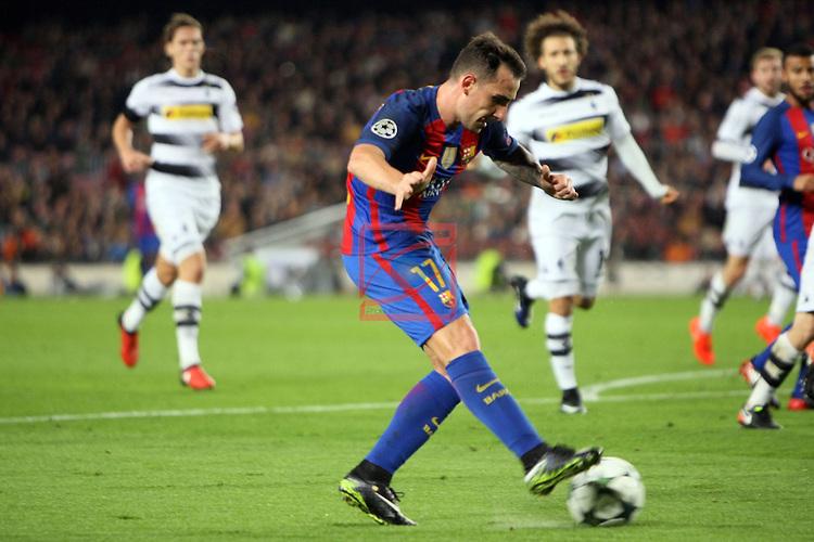 UEFA Champions League 2016/2017 - Matchday 6.<br /> FC Barcelona vs VfL Borussia Monchengladbach: 4-0.<br /> Paco Alcacer.