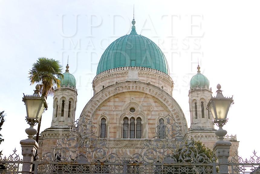Veduta esterna della Sinagoga di Firenze.<br /> Exterior view of the Synagogue of Florence.<br /> UPDATE IMAGES PRESS/Riccardo De Luca