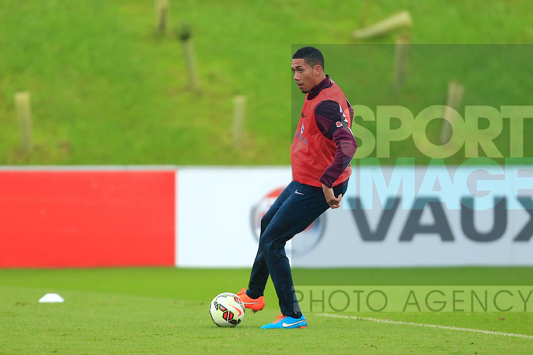 Chris Smalling of England - England Training & Press Conference - UEFA Euro 2016 Qualifying - St George's Park - Burton-upon-Trent - 11/11/2014 Pic Philip Oldham/Sportimage