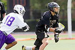 Orange, CA 05/16/15 - Eli Sayson (Grand Canyon #18) and Ben Wharton (Colorado #5) in action during the 2015 MCLA Division I Championship game between Colorado and Grand Canyon, at Chapman University in Orange, California.
