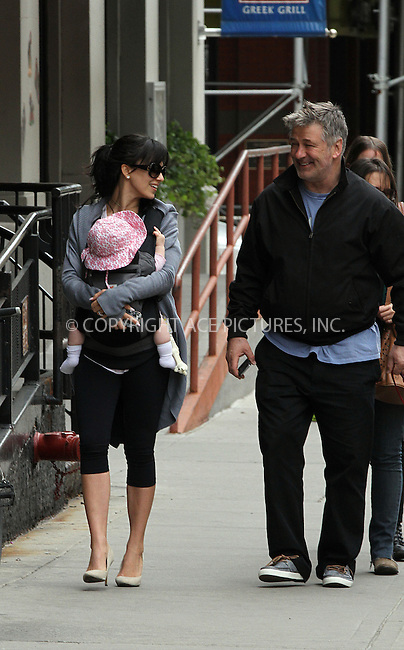 WWW.ACEPIXS.COM<br /> <br /> May 4 2014, New York City<br /> <br /> Actor Alec Baldwin went out for a walk with his wife Hilaria and his daughter Carmen in the East Village on May 4 2014 in New York City<br /> <br /> By Line: Zelig Shaul/ACE Pictures<br /> <br /> <br /> ACE Pictures, Inc.<br /> tel: 646 769 0430<br /> Email: info@acepixs.com<br /> www.acepixs.com