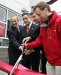 7 April 2007: The ribbon-cutting ceremony to officially open Dick's Sporting Goods Park.  Left to right:  MLS Commissioner Don Garber, Commerce City mayor Sean Ford, Colorado Rapids owner Stan Kroenke, Dick's Sporting Goods official Jeff Hennion. The Colorado Rapids defeated DC United 2-1 at Dick's Sporting Goods Park in Denver, Colorado in the opening game of the MLS regular season.