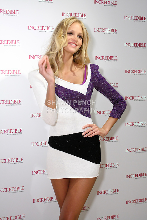 "Erin Heatherton poses during the ""Incredible by Victoria's Secret"" launch at the Victoria Secret SOHO Store, August 10, 2010."