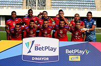 BARRANCABERMEJA-COLOMBIA, 03-02-2020: Jugadores de Deportivo Pasto, posan para una foto, antes partido Alianza Petrolera y Deportivo Pasto, de la fecha 3 por la Liga BetPlay DIMAYOR I 2020 en el estadio Daniel Villa Zapata en la ciudad de Barrancabermeja. / Players of Deportivo Pasto, pose for a photo, prior  a match between Alianza Petrolera and Deportivo Pasto, of the 3rd date for the BetPlay DIMAYOR Leguaje I 2020 at the Daniel Villa Zapata stadium in Barrancabermeja city. Photo: VizzorImage  / José D. Martínez / Cont.