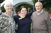 NWA Democrat-Gazette/CARIN SCHOPPMEYER Liz Esch (center) and her parents Wincie and Jerry Hendricks enjoy Chefs in the Garden.