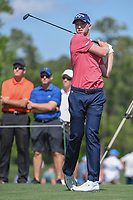 Daniel Berger (USA) watches his tee shot on 3 during round 1 of the Houston Open, Golf Club of Houston, Houston, Texas. 3/29/2018.<br /> Picture: Golffile | Ken Murray<br /> <br /> <br /> All photo usage must carry mandatory copyright credit (© Golffile | Ken Murray)