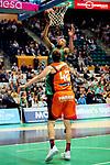 League ACB-ENDESA 2017/2018. Game: 30.<br /> Divina Seguros Joventut vs Valencia Baket Club: 77-75.<br /> Demitrius Conger vs Aaron Doomekamp.