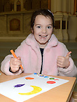 Rebecca Bride who took part in the badge making workshop ant the Highlanes gallery. Photo: Colin Bell/pressphotos.ie