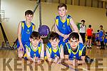 Sean Morris, Mark Carmody, Ghazi Zazkr, Noah Townsend and Tiernan O'Carroll of Balloonagh NS at the  CBS Hoops Basketball bliz in the John Mitchels complex on Friday morning last.