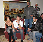 **EXCLUSIVE**.Roselyn Sanchez, Eric Winter, Adam Rodriguez and Tony Parker watching the fight between Manny Pacquiao and Ricky Hattonon on TV..The Rally for Kids with Cancer Scavenger Cup - Winners Gala..Private Mansion, Beverly Park..Beverly Hills, CA, USA.Saturday, May 02, 2009. .Photo By Celebrityvibe.com.To license this image please call (212) 410 5354; or Email: celebrityvibe@gmail.com ;.website: www.celebrityvibe.com