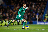 30th November 2019; Stamford Bridge, London, England; English Premier League Football, Chelsea versus West Ham United; Goalkeeper David Martin of West Ham United plays the ball long forward - Strictly Editorial Use Only. No use with unauthorized audio, video, data, fixture lists, club/league logos or 'live' services. Online in-match use limited to 120 images, no video emulation. No use in betting, games or single club/league/player publications