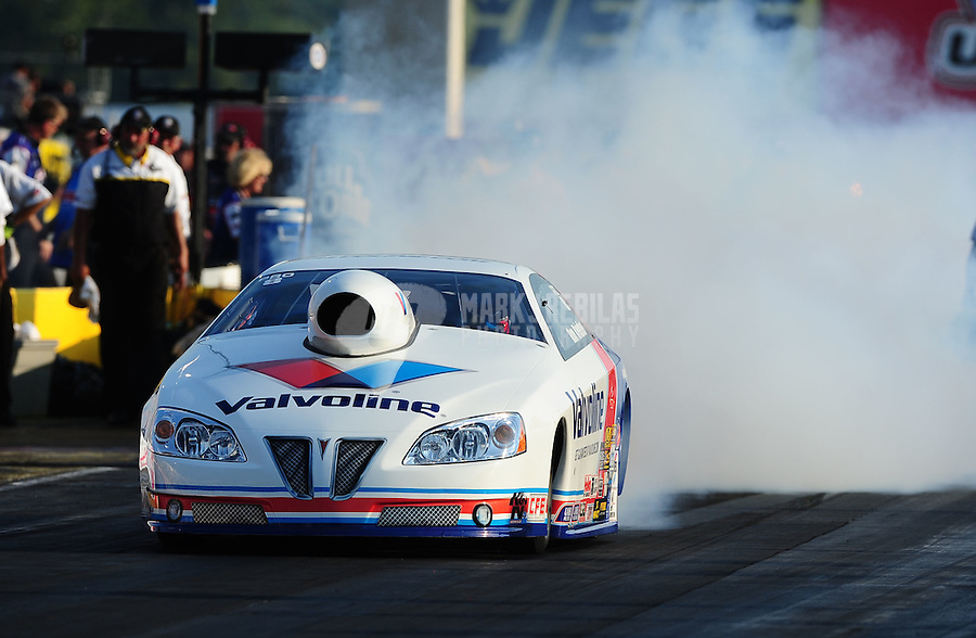 Sept. 2, 2011; Claremont, IN, USA: NHRA pro stock driver Ron Krisher during qualifying for the US Nationals at Lucas Oil Raceway. Mandatory Credit: Mark J. Rebilas-