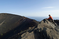 Spain, Canary Islands, La Palma, view at vulcano San Antonio near village Los Canarios Fuencaliente