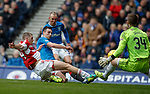 Lee Wallace scores the fourth goal for Rangers