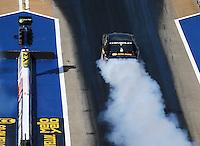 Jun 17, 2016; Bristol, TN, USA; NHRA pro stock driver Vincent Nobile during qualifying for the Thunder Valley Nationals at Bristol Dragway. Mandatory Credit: Mark J. Rebilas-USA TODAY Sports