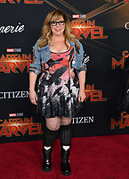 "LOS ANGELES, CA. March 04, 2019: Kirsten Vangsness at the world premiere of ""Captain Marvel"" at the El Capitan Theatre.<br /> Picture: Paul Smith/Featureflash"