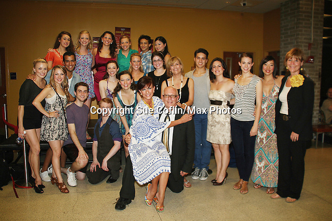 Opening Night Party - As The World Turns' Colleen Zenk along with her daughter Kelsey Crouch Pinter and 5 actresses - Karen Mason, Kelly Felthous, Carrie Manolakos, Pearl Sun and Dana Steingold star as CAP 21 presents SUMMER STOCK NYC, a celebration of the Broadway Musical on July 17, 2010 at the Michael Schimmel Center for the Arts, Pace University, NYC. (Photo by Sue Coflin/Max Photos)