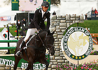 Andrew Nicholson and Quimbo win the 2013 Rolex Three Day Event at the Kentucky Horse Park in Lexington, KY.  April 28, 2013.