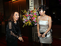 October 17, 2016, Tokyo, Japan - Japanese actress Uno Kanda (R) smiles with Japanese designer Tae Ashida at her spring and summer collection in Tokyo as a part of Japan Fashion Week on Monday, October 17, 2016. Tae Ashida celebrated her 25th anniversary collection.   (Photo by Yoshio Tsunoda/AFLO) LWX -ytd-