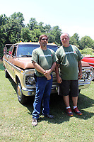 MEGAN DAVIS/MCDONALD COUNTY PRESS Keith Dickson, owner of FORDification, and local sponsor, Fred Nelson, stand in front of Dickson's antique Ford Ranger during the 2018 event. Dickson and his family travelled from Nebraska to attend the event on Saturday.
