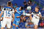 Getafe CF's Mauro Arambarri (l) and Atalanta BC's Rafael Toloi during friendly match. August 10,2019. (ALTERPHOTOS/Acero)