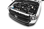 Car Stock 2015 Toyota Tundra 5.7 Auto SR Regular Cab 2 Door Truck Engine high angle detail view