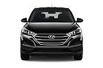 Car photography straight front view of a 2016 Hyundai Tucson SE 5 Door Suv Front View