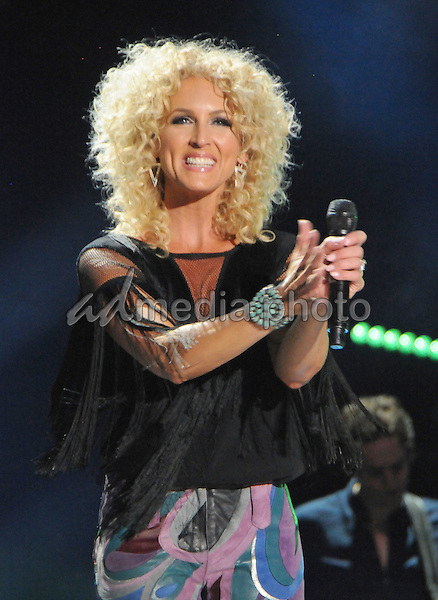 12 June 2016 - Nashville, Tennessee - Kimberly Schlapman, Little Big Town. 2016 CMA Music Festival Nightly Concert held at Nissan Stadium. Photo Credit: Dara-Michelle Farr/AdMedia