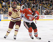 Kevin Hayes (BC - 12), Joseph Manno (Northeastern - 92) - The Boston College Eagles defeated the Northeastern University Huskies 7-1 in the opening round of the 2012 Beanpot on Monday, February 6, 2012, at TD Garden in Boston, Massachusetts.