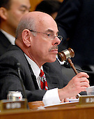 "Washington, DC - February 13, 2008 -- Henry Waxman (Democrat of California), Chairman, United States House of Representatives Committee on Government Operations and Reform, listens to the testimony of Roger Clemens, former New York Yankee pitcher, lower center, on ""The Mitchell Report: The Illegal use of Steroids in Major League Baseball, Day 2""  concerning alleged use of steroids and human growth hormone (HGH) by Clemens and several other major league players in Washington, D.C. on Wednesday, February 13, 2008.  .Credit: Ron Sachs / CNP.(RESTRICTION: NO New York or New Jersey Newspapers or newspapers within a 75 mile radius of New York City)"