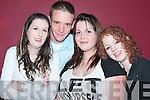 ENJOYING:.At the Vicars.and Tarts.night on Friday.in the.Cashen Bar,.Ballybunion,.were from left,.Nicola OCarroll,.Lixnaw,.Edward Hanrahan,.Ballylongford,.Jennifer.OBrien,.Lixnaw, and.Laura Hanrahan,.Ballylongford.