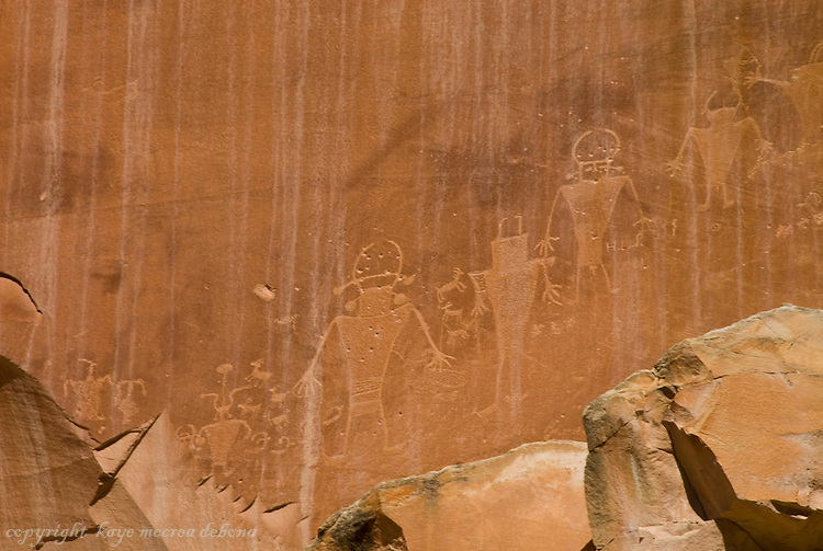 Landscapes of Capitol Reef National Park-petroglyphs